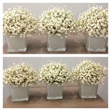 baby s breath centerpiece baby s breath cube centerpiece trio gatherings floral studio
