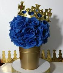 royal prince baby shower theme flower pail royal prince baby shower table centerpiece boys royal