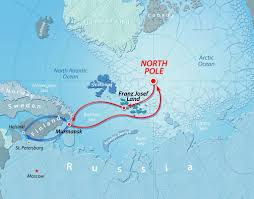 North Pole Map Icebreaker Expedition To The North Pole