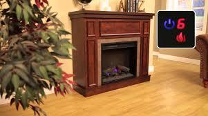 hampton bay u0027granville u0027 electric fireplace youtube