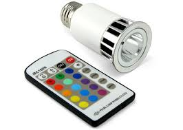 multicolor led light bulb with remote control