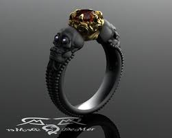 skull engagement rings skull engagement ring with diamond in solid blackened 14kt