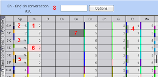 what do the colors mean what do the colors in lesson grid mean asc timetables