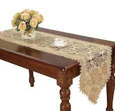 decorations charming modern polyester kitchen decoration charming beige lace table runner dresser scarf