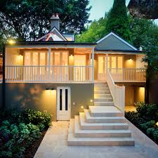 Exterior Unbelievable Design Balcony Lighting by Contemporary Split Level Exterior House Design Outside Lighting