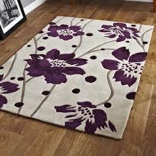 Area Rugs With Purple Modern Purple Aubergine Plum Colour Rugs In Large Small Medium