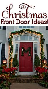 Christmas Outside Door Decorations by Our Christmas Porch The Home Depot Challenge View Along The