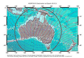 magnetic declination map geoscience australia geomagnetism request for australian
