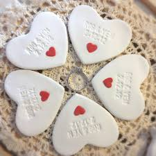 thank you wedding gifts custom 5pc wedding favors mini heart ornament thank you gift
