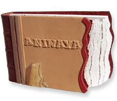 leather scrap book custom leather book covers personalized leather scrapbooks