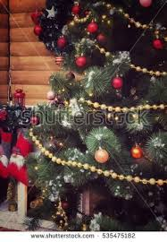 tree decorations stock photo 216453922