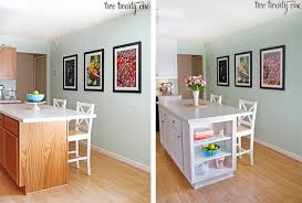 painting a kitchen island cabinet makeover reveal