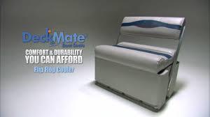 deckmate flip flop cooler pontoon boat seats youtube