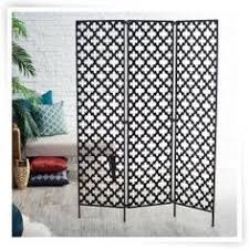 Quatrefoil Room Divider Metal 3 Panel Room Divider Decorative Folding Screen Room