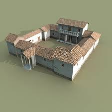Ancient Roman House Floor Plan by Villa 3d Models Turbosquid Com