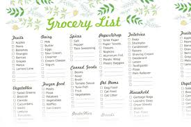 printable grocery lists leave a reply cancel reply menu and