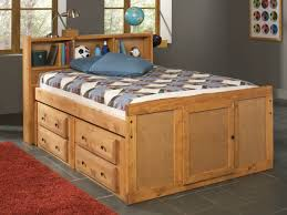 furniture wood full size captain bed frame with storage unit and
