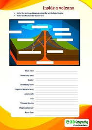 volcano printable diagrams and coloring sheets science