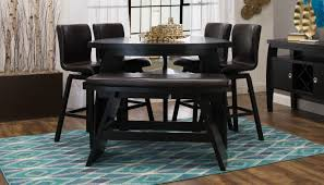 triangle high top table cosmo counter height dining table merlot value city furniture high