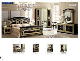 Bedroom Furniture Sets Full Size Bed Aida Black W Gold Camelgroup Italy Classic Bedrooms Bedroom
