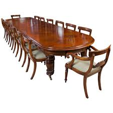 vintage victorian mahogany dining table with 14 chairs for sale at