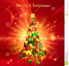 merry gift tree design stock images image 27490444