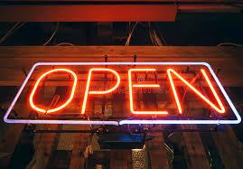shop open sign lights open sign neon light bar restaurant shop stock image image of