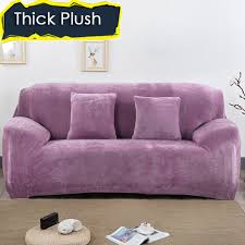 Plush Sofa Bed Aliexpress Com Buy 1 2 3 4 Seat Plush Sofa Cover Thick Fabric