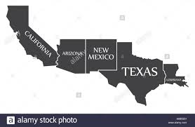 Map Of New Mexico And Arizona by Arizona Mexico Map Stock Photos U0026 Arizona Mexico Map Stock Images