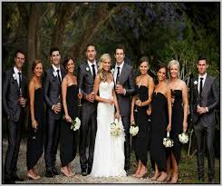 black bridesmaid dresses black bridesmaid dresses and grey groomsmen suits search