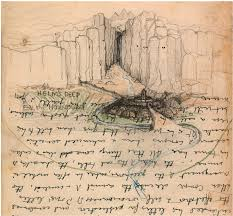Lotr Map See The Sketches J R R Tolkien Used To Build Middle Earth Wired