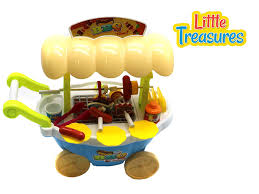 amazon com little treasures grill bbq cart play set 28 pieces