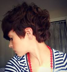 short hair over ears longer in back 19 cute wavy curly pixie cuts we love pixie haircuts for short