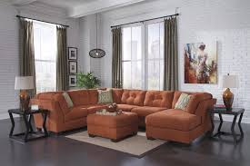 Ashley Furniture 3 Piece Sectional Delta Rust 19701 3 Pc Sectional