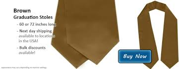 honor stoles add brown honor stoles to your commencement celebrations