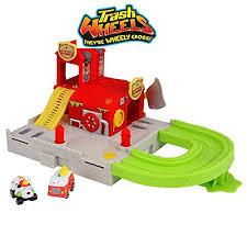 trash pack trash wheels blazing fire station playset toy