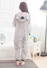 unisex animal grey koala pajamas kigurumi