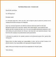 8 two weeks resignation letter audit letters