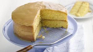 golden caramel cake recipe bettycrocker com