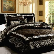 bedroom black and white comforter sets with zebra pattern on top