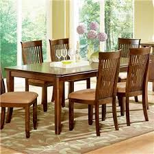 Dining Room Furniture Montreal Steve Silver Montreal 7 Transitional Brown Dining Table
