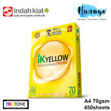 ik ik yellow a4 white paper 80gsm 450 sheets ream