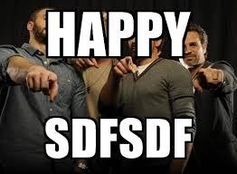 Sdfsdf Meme - happy sdfsdf the avengers pointing meme generator