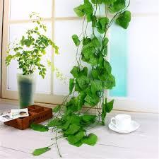 Imitation Plants Home Decoration Aliexpress Com Buy 2 4 Meter Artificial Plants Grape Leaves