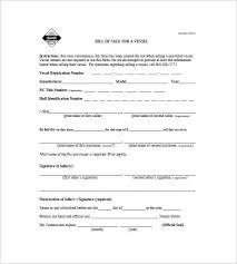 boat bill of sale u2013 8 free word excel pdf format download