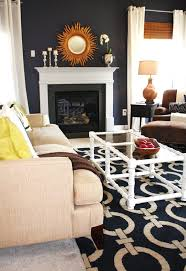 Wood Area Rugs Navy Gold Living Room Living Room Contemporary With White Shag