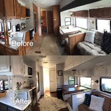 Camper Interior Decorating Ideas by Easy Rv Remodeling Instructions Rv Makeover Reveal Paint Rv