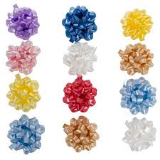 bows for presents 12 pack large 4 5 assorted confetti gift bows presents birthdays