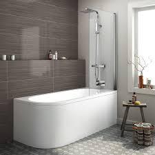modern bathroom bath corner back to wall bathtub and shower screen corner bath and shower screen