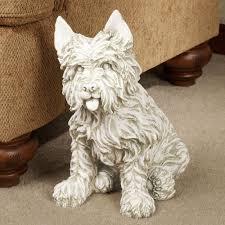oliver cairn terrier sculpture with key safe